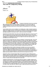 Commentary_ The Case for Compulsory Voting _ The National Interest