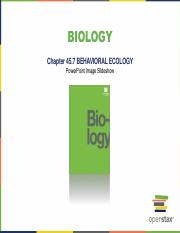 Ch. 45.7 Behavioral Ecology