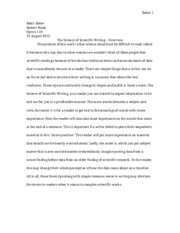 Scientific Writing Paragraph