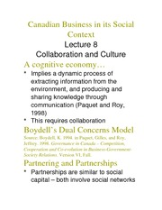 Collaboration and Culture