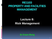RE1103 Lecture 8