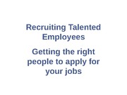 05 Recruiting Talented Employees