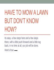 project ppt-5 how to mow a lawn