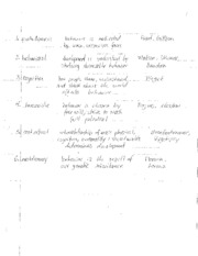 Notes on Psychological Developmental Stages