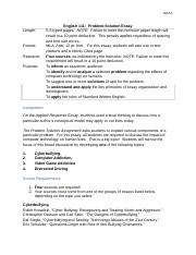 ENG - Essay 2 - Problem : Solution Guidelines .docx