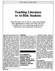 Teaching Lit At Risk Students