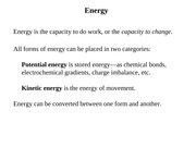 Chapter 8 Energy Enzymes