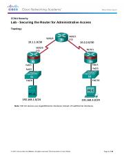 2.5.1.1 Lab - Securing the Router for Administrative Access.docx