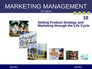 Chapter 10 Setting Product Strategy (Summer 2013)