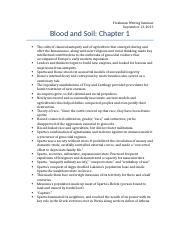 Blood and Soil-Chapter 1