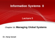 5-IS II GUC 2009 2010 spring- lecture 5