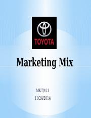 MKT 421 - Marketing Mix Presentation.pptx