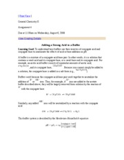 General Chemistry II - Assignment 4