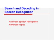 Ch5-Automatic Speech Recognition-Advanced Topics