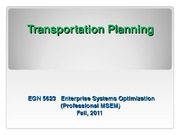 EGN_5623 Transportation Planning