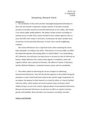 interpret research article