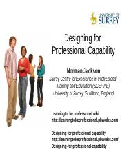 Designing for Professional Capability.ppt