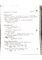 Logarithms and Loudness Notes