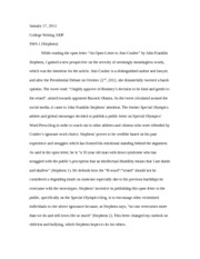 College Writing- Essay