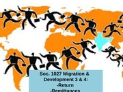 Migration and Development return and remitt 2014