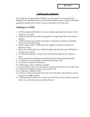 challenges to capm.docx