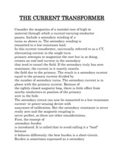 THE CURRENT TRANSFORMER