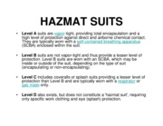 HAZMAT SUITS LEVEL A B C D