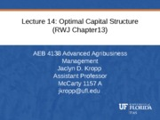 Lecture+14+Optimal+Capital+Structure