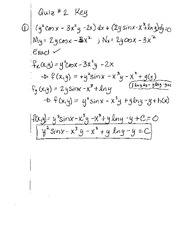 Quiz 2 Key - Fall 2010