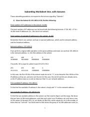 Subnetting Worksheet One With Answers.docx