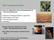 SAS2 Winter 2014 Agricultural Pests and Pest Control