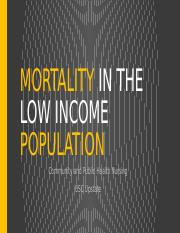low income population