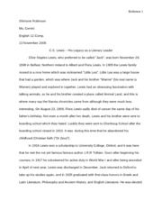 C.S. Lewis - His Legacy (English Final Paper)