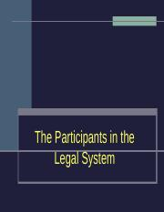 Participants in the Legal System