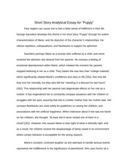 "Short Story Essay for ""Puppy"""