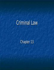 Chapter 13, Criminal to elc - Copy.ppt