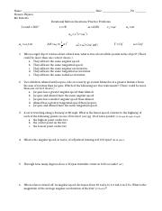 Rotational Motion Questions and Practice Problems-2