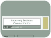 ASE_Improving Business Communication