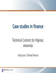 Technical content for Paginas case