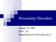 Personality Disorders POST