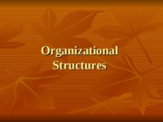 Organizational Structures (presentation with notes)