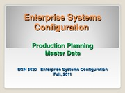 EGN_5620_Enterprise_Production Planning Master Data