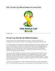 World Cup FIFA Official Emblem for Brazil 2014 Games.pdf