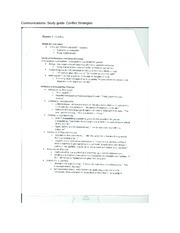 Communications- Study guide- Conflict Strategies