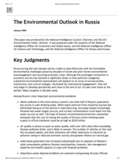 The Environmental Outlook in Russia 2