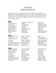 US History Final Exam Review(Fall).doc.docx