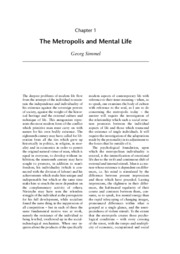 Simmel_The Metropolis and Mental Life