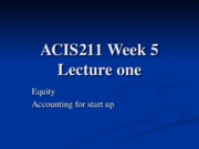 5.1 ACIS211_Week_5_Lecture_one_Equity