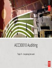 HOC - L9 - Completing the Audit(3).ppt