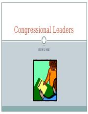 Activity, Resume of Congressional Leaders.pptx